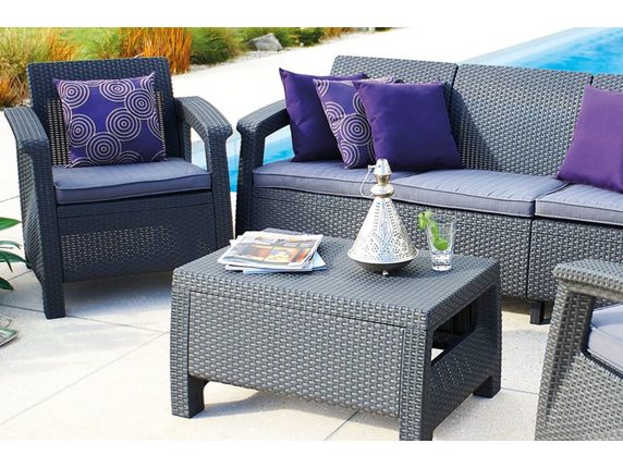 Комплект мебели Corfu Triple Set Коричневый