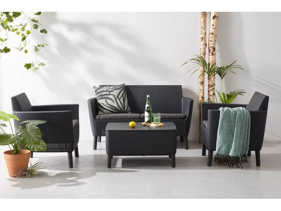 Комплект мебели Salemo 2-seater set Графит