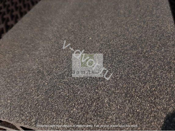 Террасная доска DORTMAX SOUL, черный, 4000х26х162 мм, пог.м.